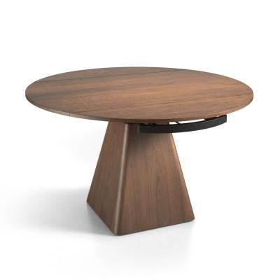 Stačiakampis valgomojo stalas, uosio medienos ir MDF su riešutmedžio fanera