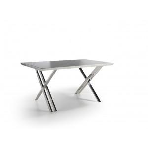 Rašomasis stalas su fiksuotu, juodai dažytu grūdinto stiklo stalviršiu