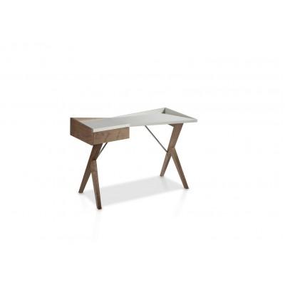 Rašomasis stalas su šoniniu stalčiumi su švelnaus uždarymo sistema