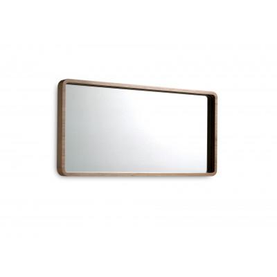 Pakabinamas veidrodis su rėmu iš MDF ir riešutmedžio faneros