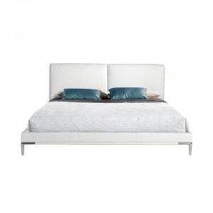 Dvigulė lova, aptraukta dirbtine oda