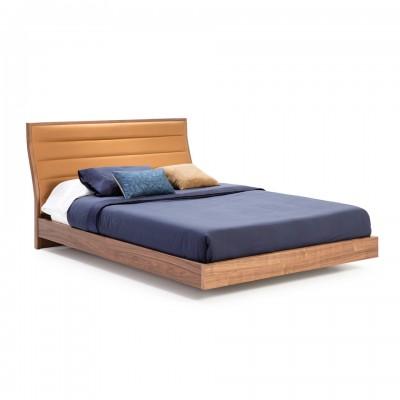 Dvigulė lova su MDF ir riešutmedžio faneros