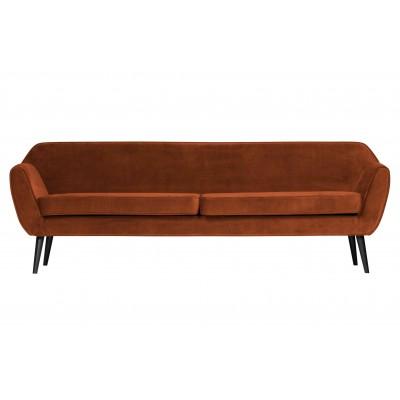 Sofa Rocco XL, 230 cm, velvetas (rūdžių)