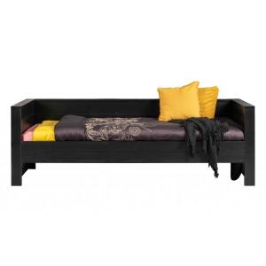 Lova Dennis (be lovos stalčiaus), šveista pušis (juoda)
