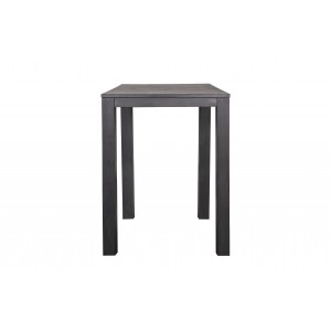 Baro stalas Largo, 85x85 cm (110 cm) (juoda)