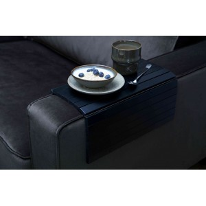 Padėklas, prisitaikantis prie sofos porankio, XL dydžio (juoda)