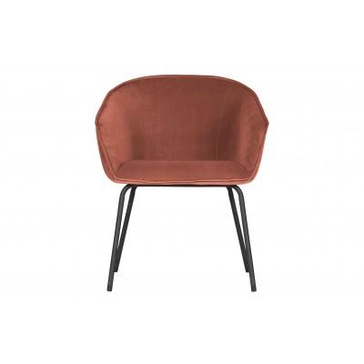 Valgomojo kėdė Sien, velvetas (avietinė), 2 vnt.