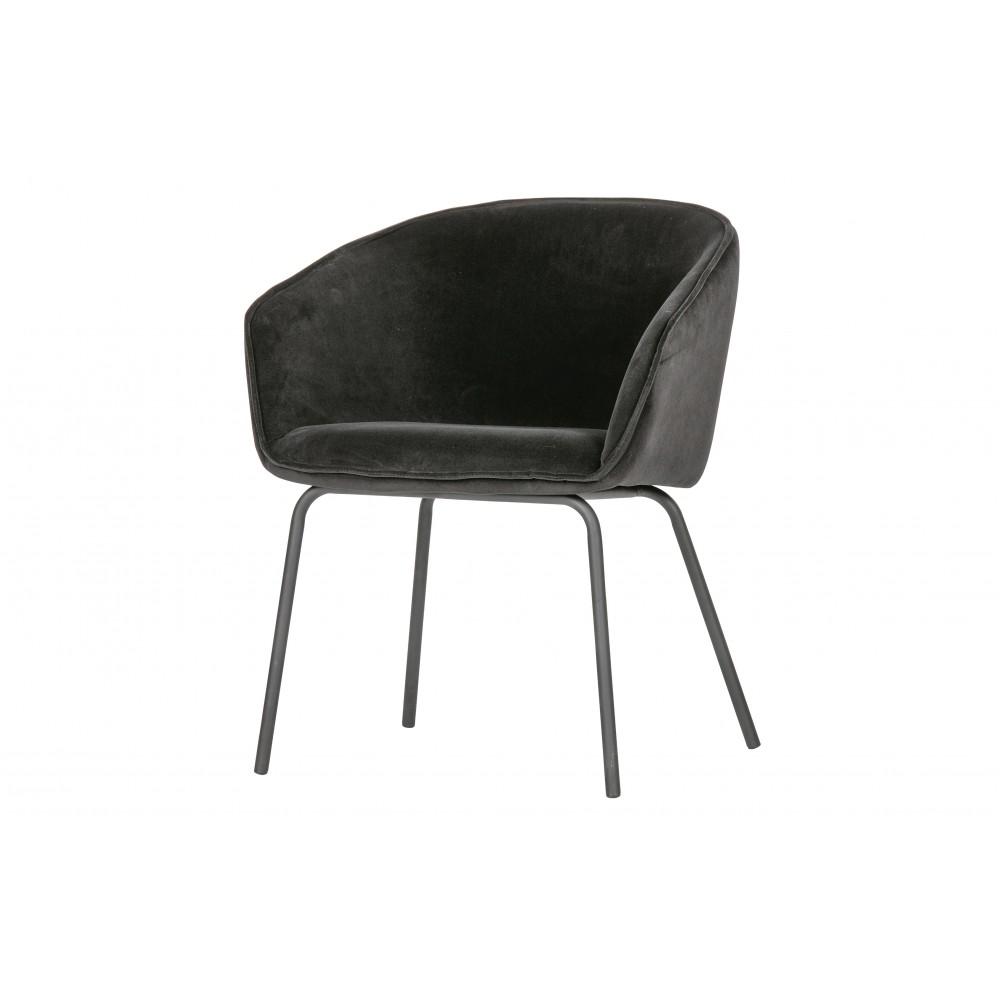 Valgomojo kėdė Sien, velvetas (juoda), 2 vnt.