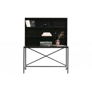 Rašomasis stalas Elwin, metalas / medis (juoda)