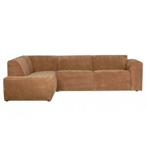 Kampinė sofa Luna, kairinė, kordinis velvetas (žalsvai pilka)