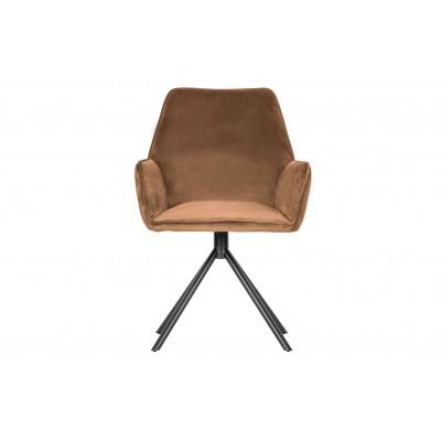 Valgomojo kėdė Amber, velvetas (karamelės), 2 vnt.