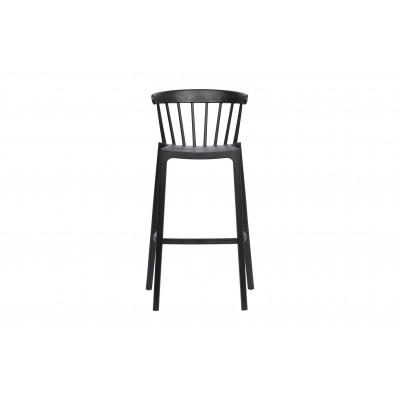 Plastikinė baro kėdė Bliss (juoda), 2 vnt.