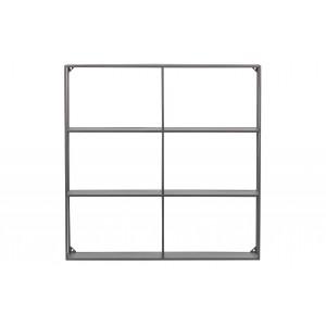 Metalinė sieninė lentyna Meert, 75x75 cm (juoda)