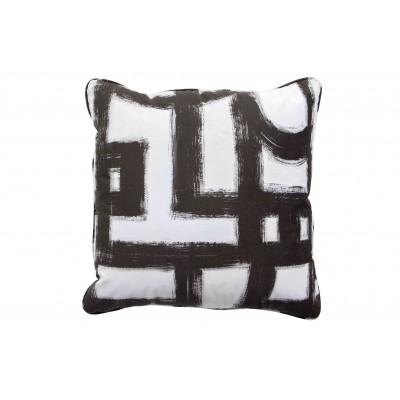 Pagalvėlė Maan, 50x50 cm (juoda / balta)