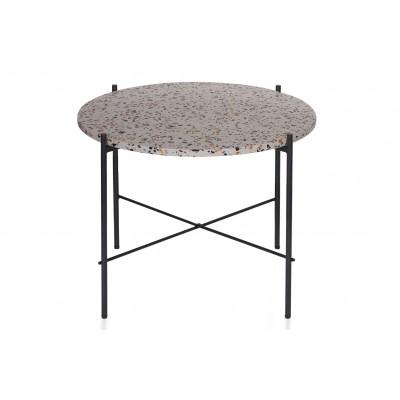 Teraco kavos staliukas Vayen, 49x63x63 cm (pilka)