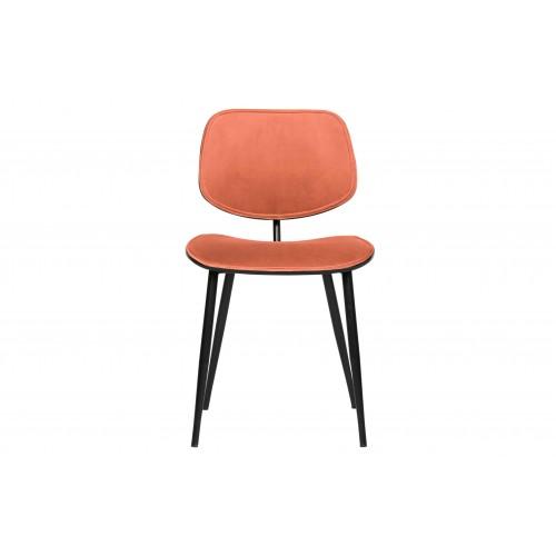 Valgomojo kėdė Jackie, velvetas (koralų)
