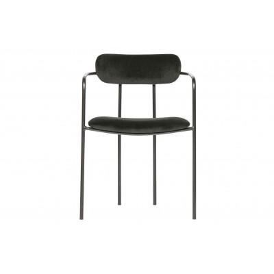 Valgomojo kėdė Ivy, velvetas (juoda), 2 vnt.