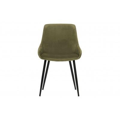 Valgomojo kėdė Selin, velvetas (sodri žalia), 2 vnt.