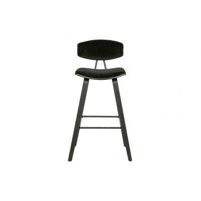 Baro kėdė Senn, velvetas (juoda), 2 vnt.
