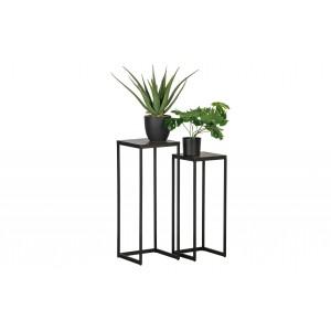 Gėlių stovas VIC, medis / metalas (2 dalių komplektas)
