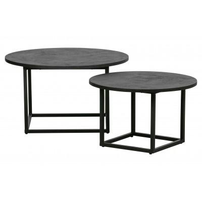 2 Enzo šoniniai staliukai (juoda)