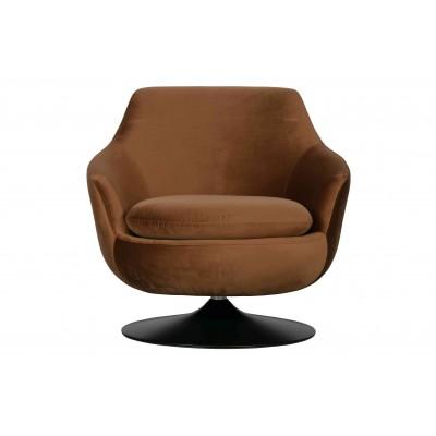 Sukamasis fotelis Jada, velvetas (ruda)