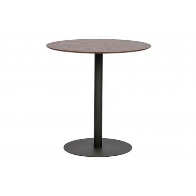 Valgomojo stalas Horeca, 75 cm skersm., metalas, medis (riešutmedžio)