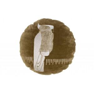 Apvali pagalvėlė Coco, velvetas, 45 cm skersm. (lapų)