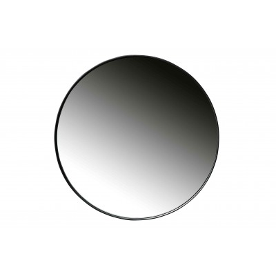 Apvalus veidrodis Doutzen, 80 cm skersm., metalas (juoda)