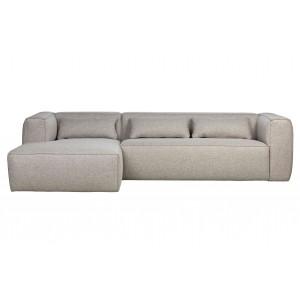 Kampinė sofa Bean su pagalvėlėmis (šviesiai pilka)