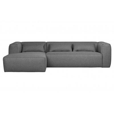 Kampinė sofa Bean su pagalvėlėmis (vidutiniškai pilka)