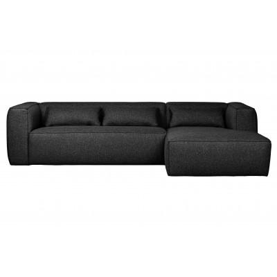 Kampinė sofa Bean, dešininė, su pagalvėlėmis (tamsiai pilka)