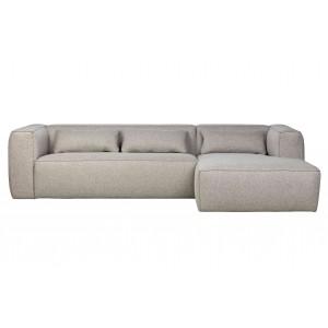Kampinė sofa Bean, dešininė, su pagalvėlėmis (šviesiai pilka)