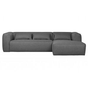 Kampinė sofa Bean, dešininė, su pagalvėlėmis (vidutiniškai pilka)