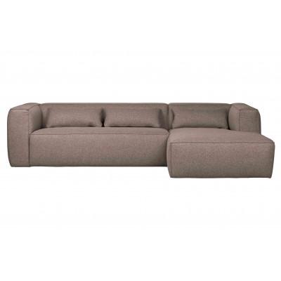 Kampinė sofa Bean, dešininė, su pagalvėlėmis (šilta rusvai pilka)