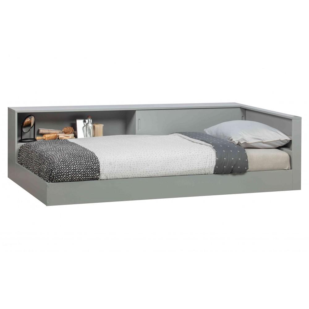 Kampinė lova Connect (betono pilka)