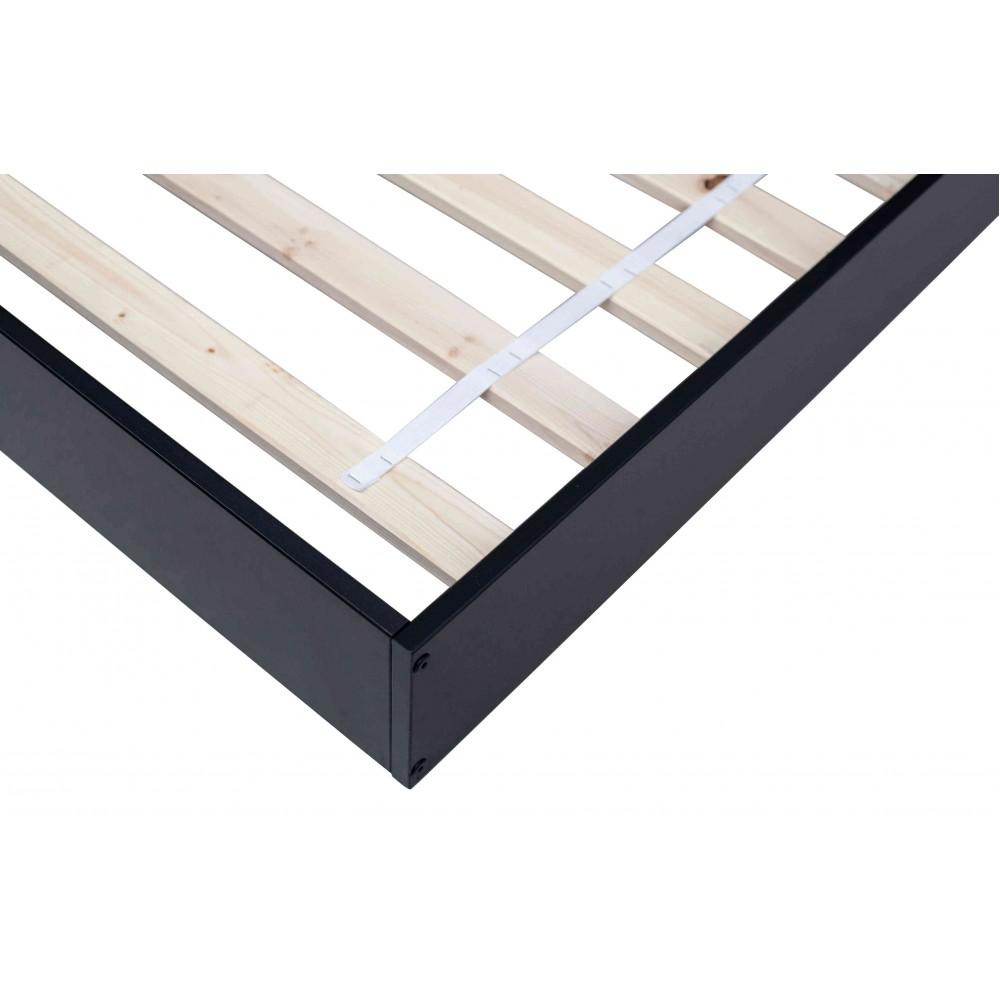 Kampinė lova Connect (juoda)
