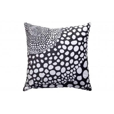 Kvadratinė pagalvėlė Koda, 50x50 cm, velvetas (juoda / balta)