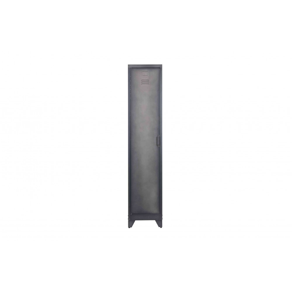 Aukšta metalinė spintelė Cas, 1 durelių (juoda)