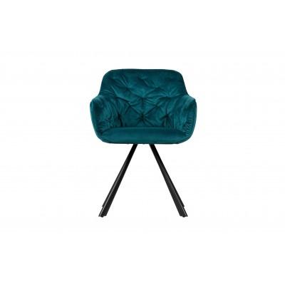 Valgomojo kėdė Elaine,  velvetas (jūros mėlyna)