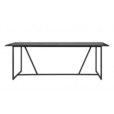 Valgomojo stalas Silas, šveistas ąžuolas (juoda)