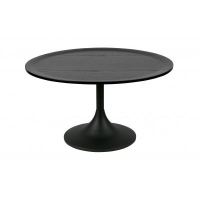 Kavos staliukas Bowie, 41x70 cm skersm., ąžuolas / metalas (juoda)