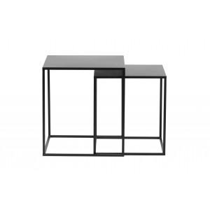 2 dalių kavos staliukas Ziva, metalas (juoda)