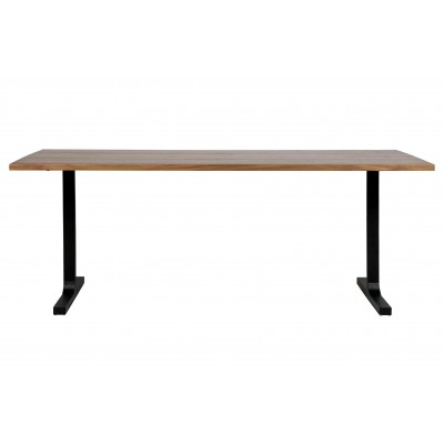 Valgomojo stalas Jimmy, 200x90 cm, riešutmedžio fanera