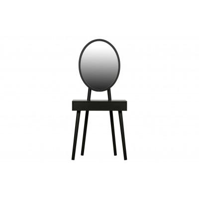 Kosmetinis staliukas Vanity, medis (juoda)