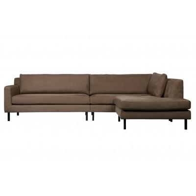 Kampinė sofa Nate, dešininė (šilta rusvai pilka)