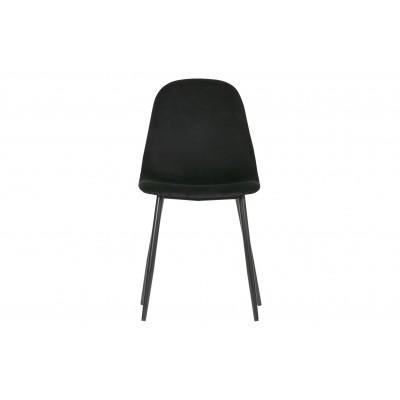 Valgomojo kėdė Marije, velvetas, 2 vnt. (juoda)