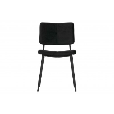 Valgomojo kėdė Kaat, velvetas (juoda) (2 dalių komplektas)