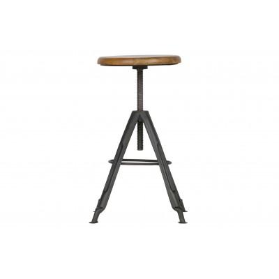 Metalinė kėdė Brenna su medine viršutine dalimi