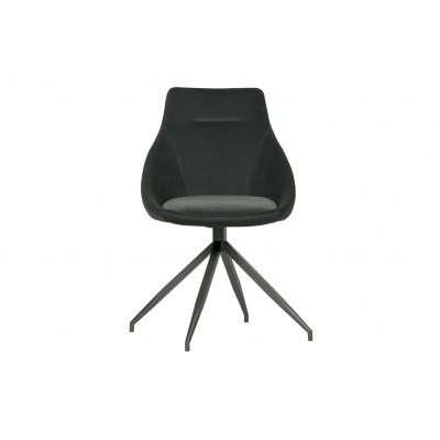 Sukamoji kėdė Resa, velvetas (antracito), 2 vnt.